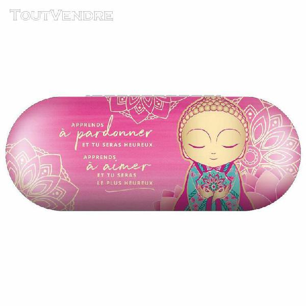 Boite à lunettes little buddha rose