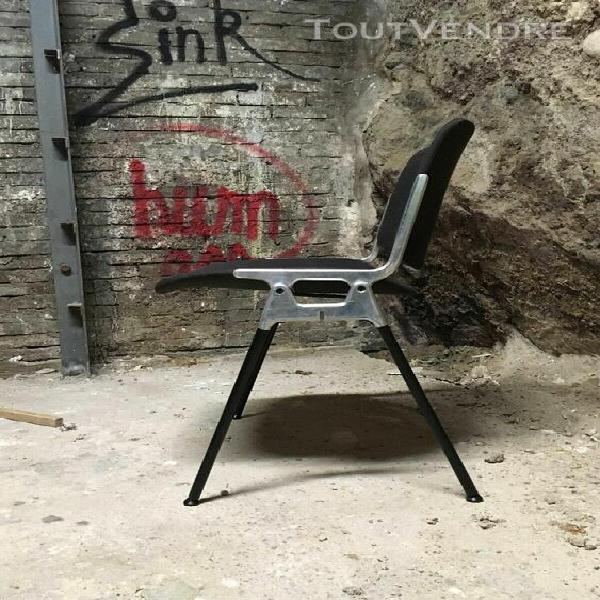 chaise castelli dsc106 design giancarlco piretti, métal et
