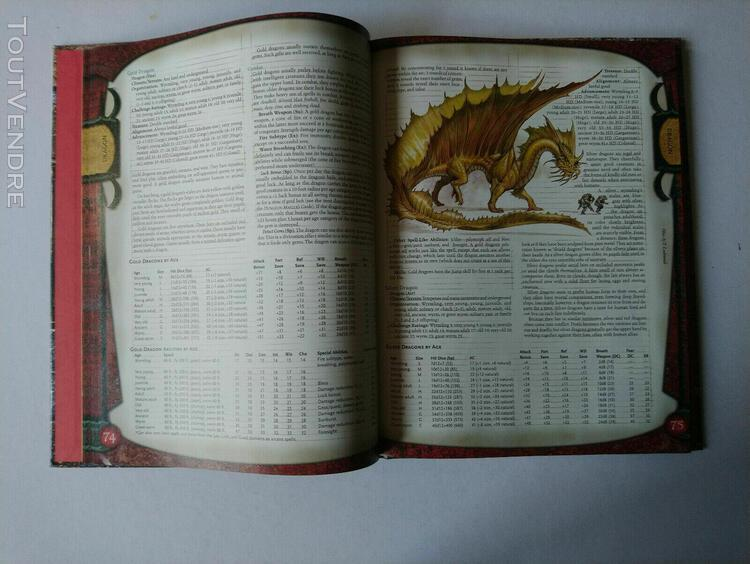 "Donjons & dragons"" monster manual"", core rulebook 3,forgotte"