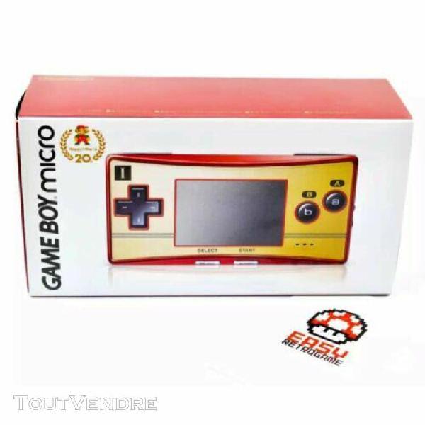 Game boy micro 20th anniversary famicom color mario nintendo