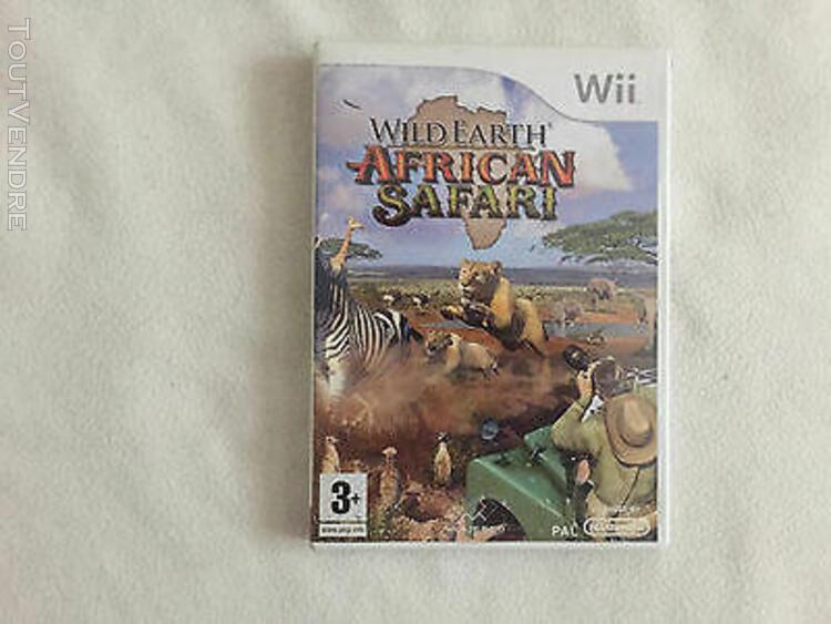 Jeu vidéo wild earth african safari pour wii