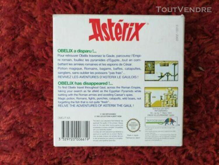 Lot 2 jeux game boy asterix + wf super star complets nintend