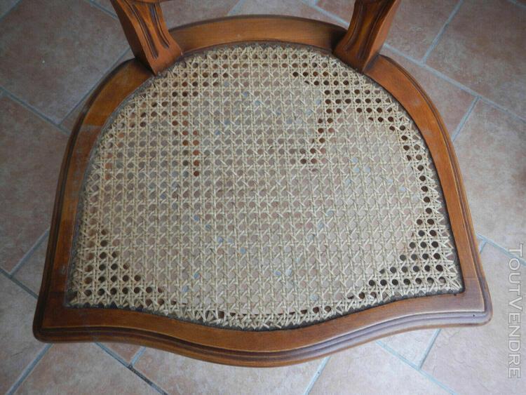 lot de 4 chaises cannées en merisier (assises en parfait