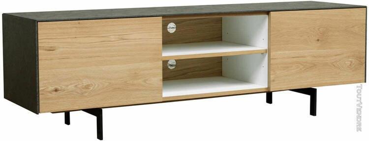 meuble tv 1 tiroir 1 niche 1 porte xena