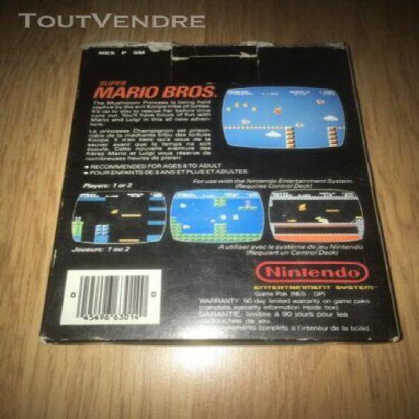 Nintendo nes super mario bros pal b edition asd (first print