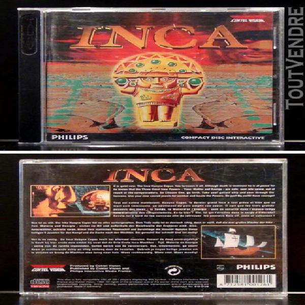 Philips cd-i / jeux cdi / compact disc interactive - inca +