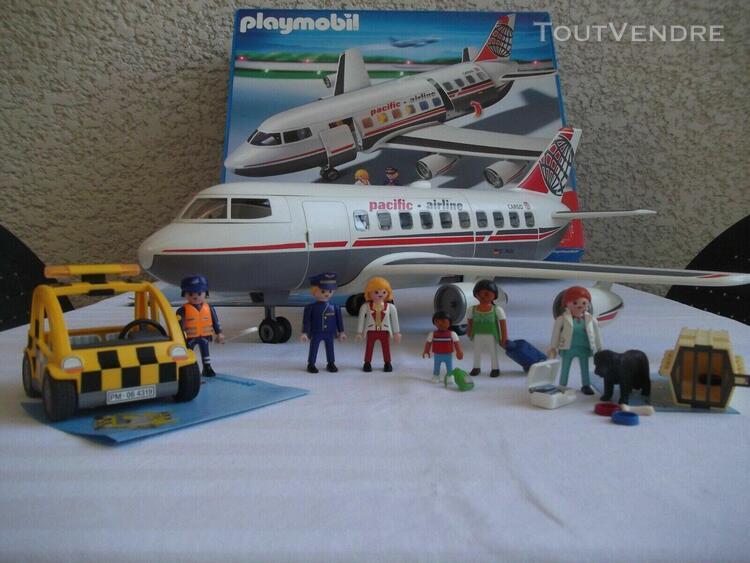 Playmobil 4310 avion pacific airline avec boite et notice +