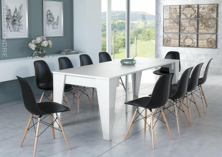 table tm extensible avec rallonges jusqu'à 239 cm, couleur
