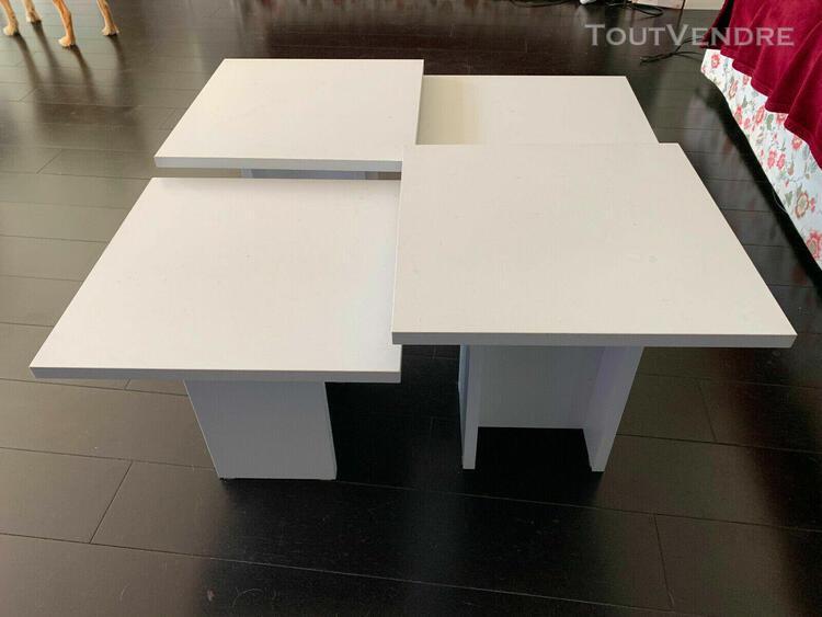 tables basses carrées ensemble de 4