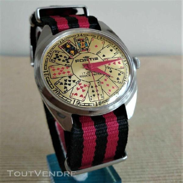 Très originale montre suisse mécanique fortis casino.