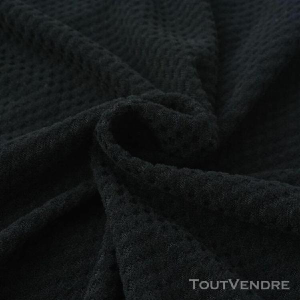 vidaxl housse extensible de canapé noir piqué