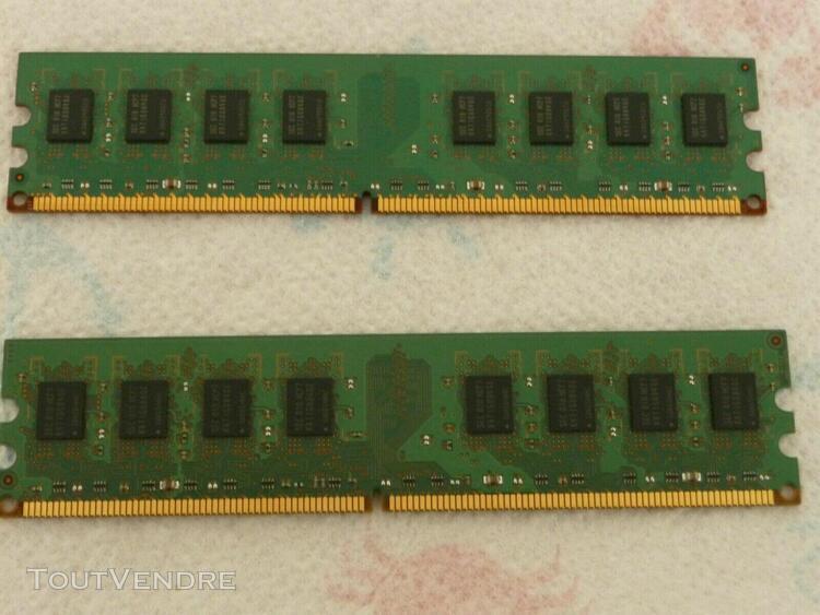 Barrette mémoire pc bureau samsung m378t5663eh3-cf7 - 2gb -