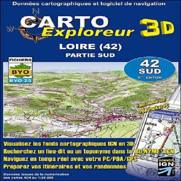 carto exploreur 3d loire 42 sud