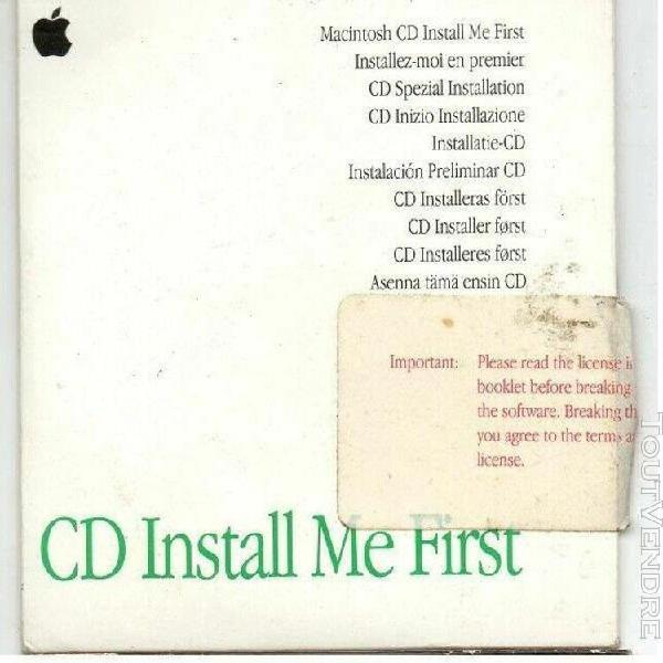 cd install me first cd demarrage apple ppc6100 7100 8100