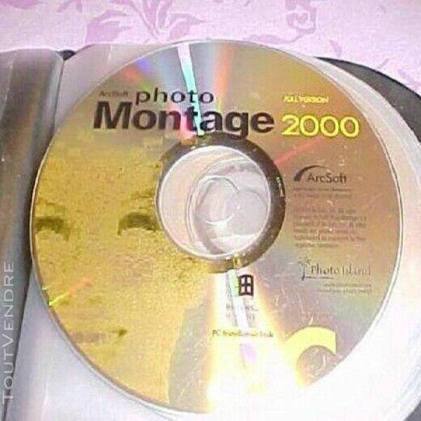 cd photomontage 2000 pc + cd image in - vieux windows a