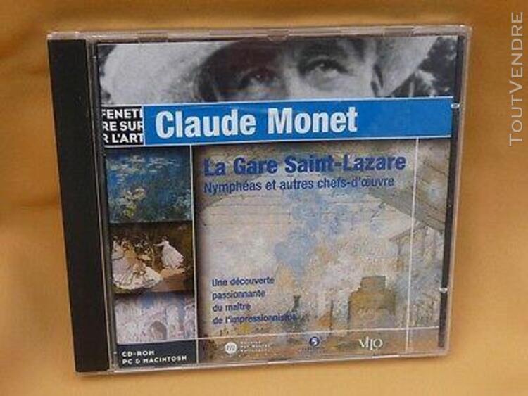 claude monet:la gare saint lazare, les nympheas, cd-rom