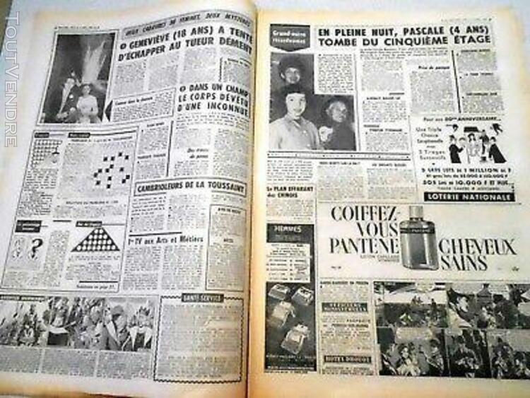 journal paris jour - 1286 - 5 novembre 1963 - echec au gang