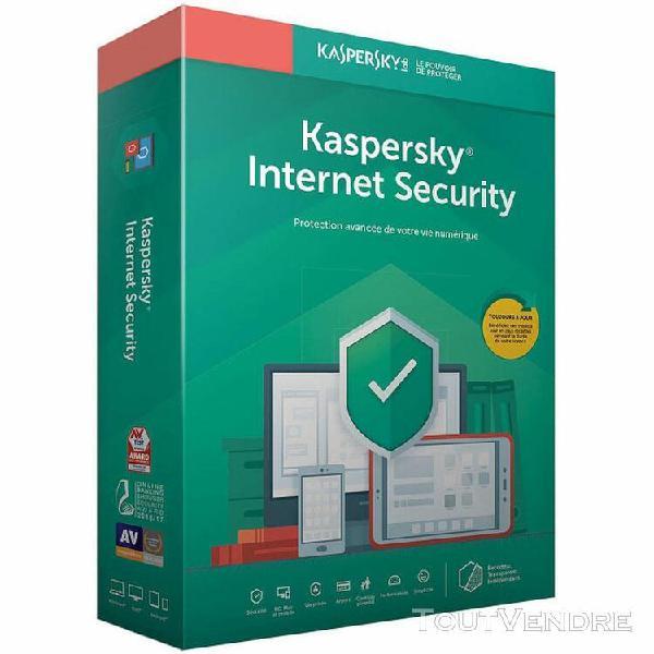 logiciel sécurité kaspersky internet security - 1 an / 1