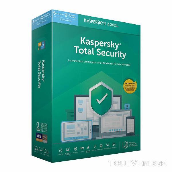 logiciel sécurité kaspersky internet security - 1 an / 5