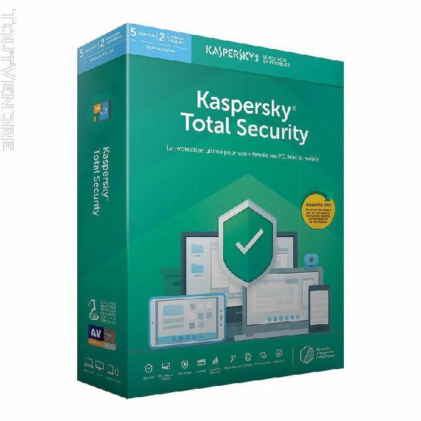 logiciel sécurité kaspersky total security - 1 an / 5 pc