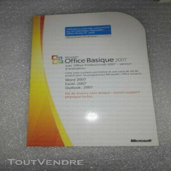 microsoft office basique 2007 word + excel + outlook
