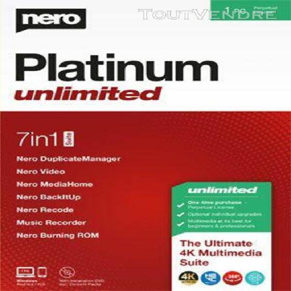 nero platinum unlimited - logiciel en téléchargement