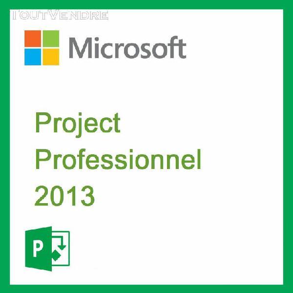 """project professionnel 2013 / """"version dématérialisée"""""""