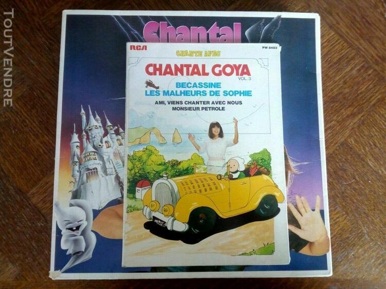 11 vinyle 33t + livret 3 chante avec chantal goya le chat bo