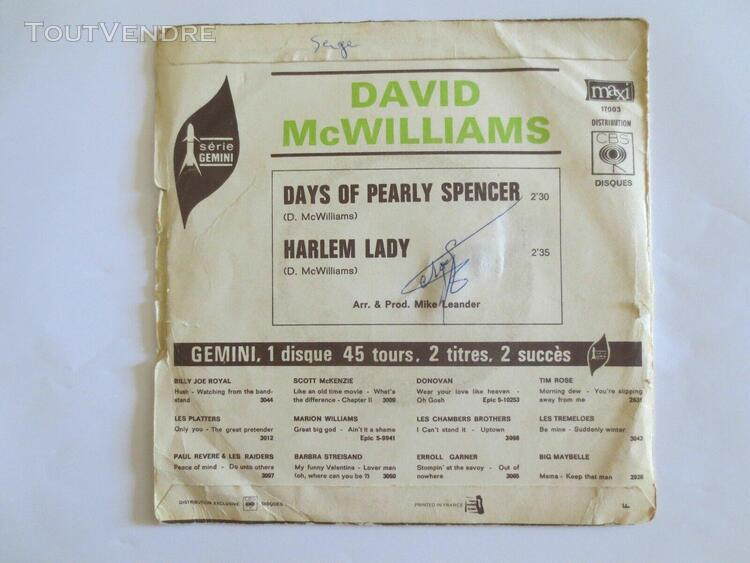 45 tours david mc williams
