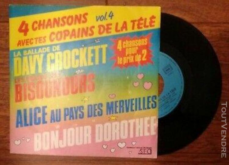45t - 4 chansons - bonjour dorothée, alice au pays des