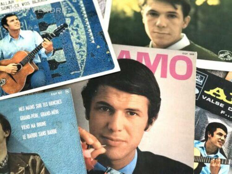 beau lot de 9 disques 45 tours adamo