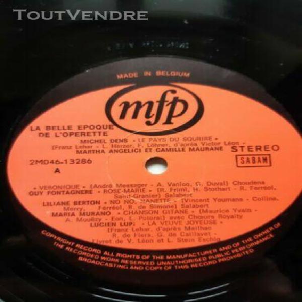 disque vinyle 33t: la belle époque de l'operette