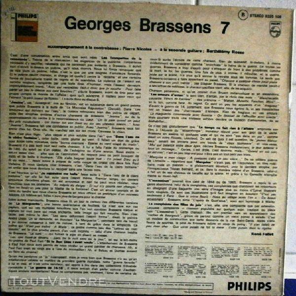 georges brassens n°vii – 33 tours (b 6325 109)