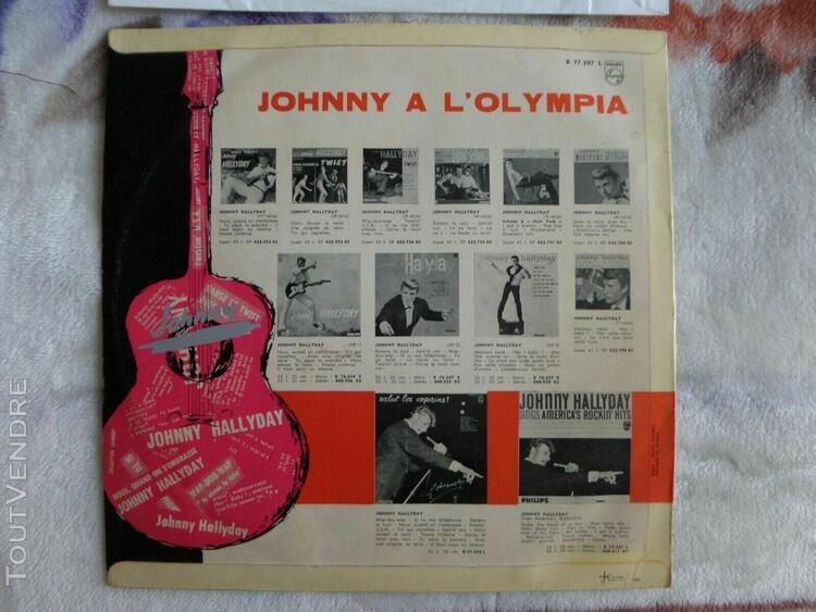 johnny hallyday rare olympia 1962 premiere pochette edition