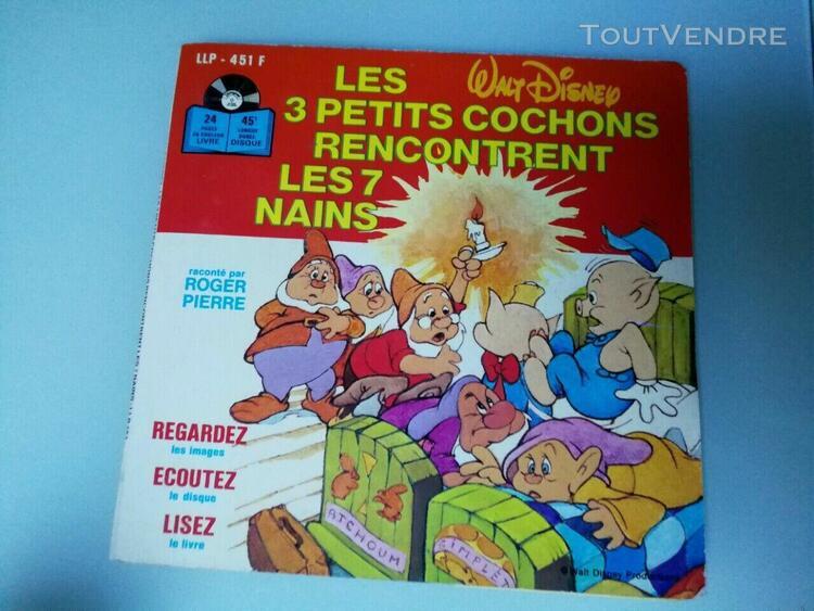 livre disque - les 3 petits cochons rencontrent les 7 nains