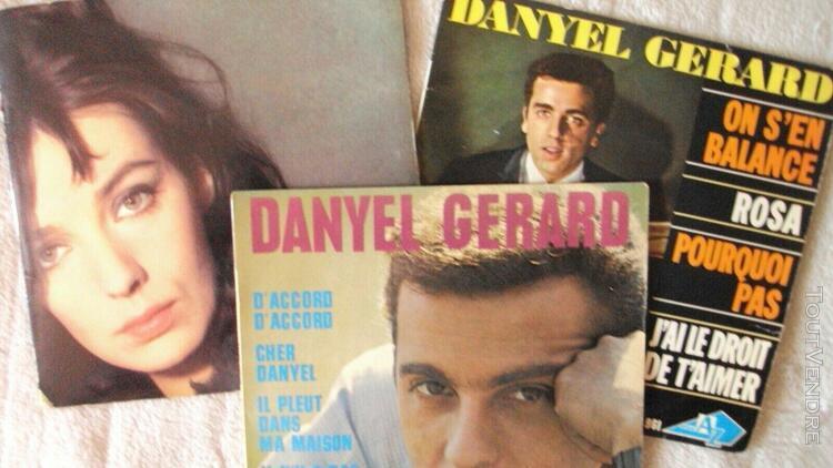 lot 3 ep disques vinyl 45 tours années 60 danyel gerard