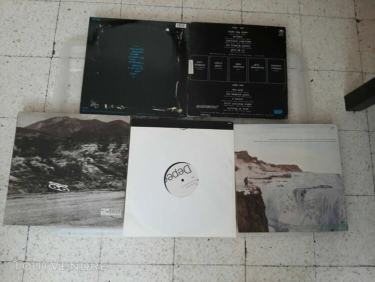 lot de 8 vinyles lp 33t de new wave /the cure depeche mode /
