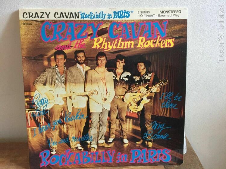 lp 33 tours vinyle 25 cm, crazy cavan, rockabilly in paris