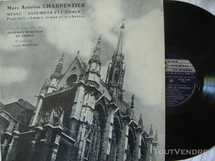 m.a charpentier - messe pour soli choeurs orgue & orch. j.m