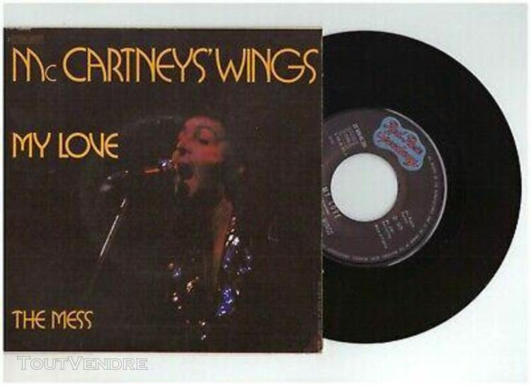 "mc cartneys' wings "" my love / the mess "" - vinyle 45 t - e"