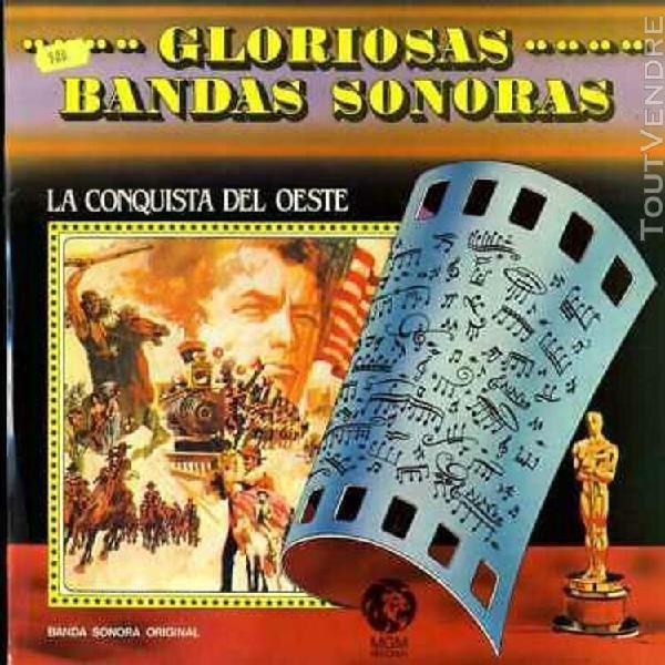 "ost bo lp 12"" film - gloriosas bandas sonoras - la conquete"