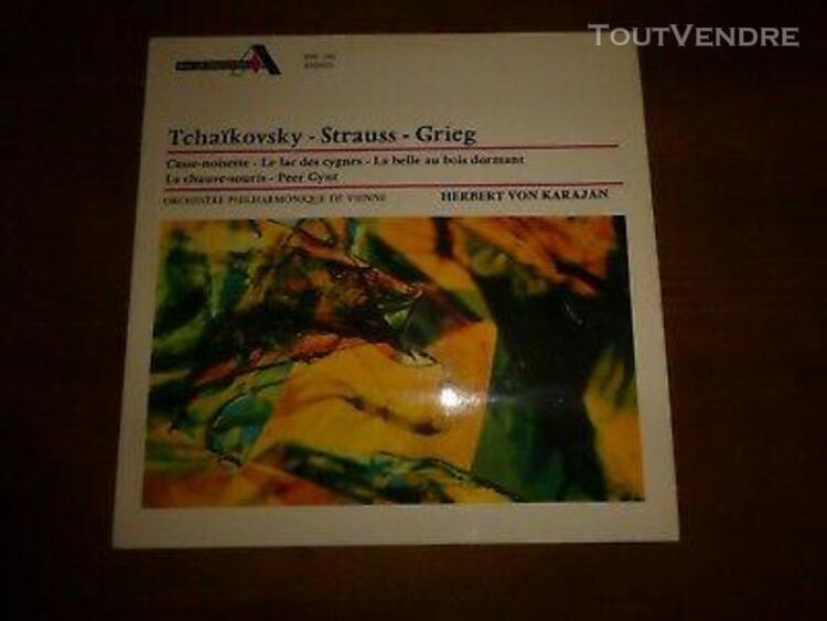 tchaikovsky strauss crieg herbert von karajan lp