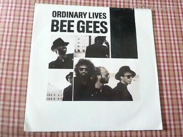 Vinyle 45t bee gees - ordinary lives - wing and a prayer - 1