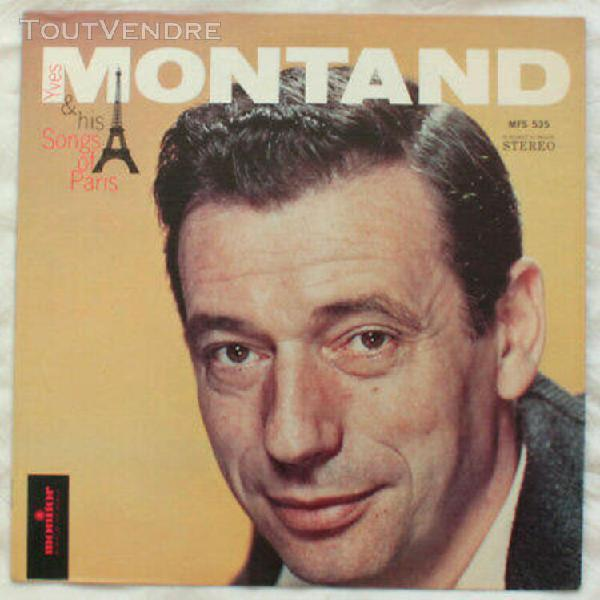 yves montand his songs of paris vinyle 33 tours lp printed i