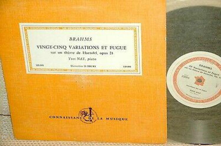 yves nat*brahms*25 variations haendel op.24*discophiles fran