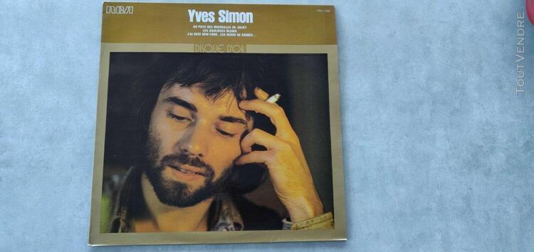 yves simon disque d'or vinyle 33t lp