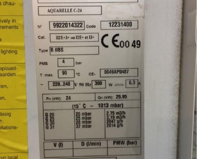 Chaudière au gaz kalina aquarelle 24 kw 257