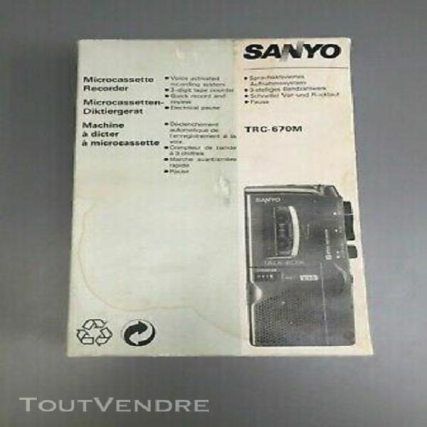 Coffret sanyo trc-670m - dictaphone microcassette voice reco