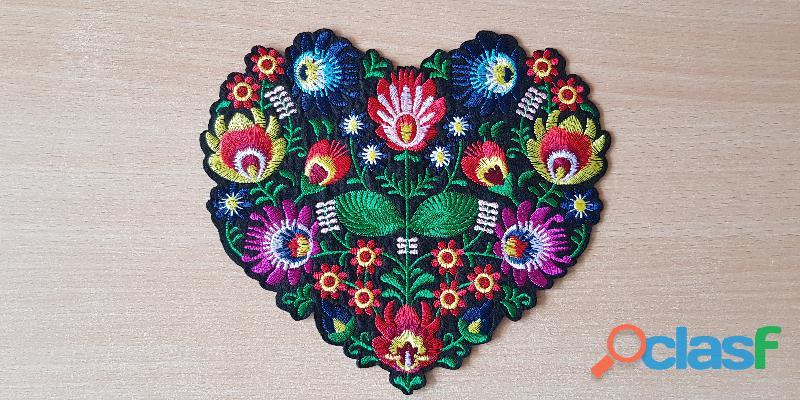 écusson brodé bouquet de fleur taille XL 20x18 cm thermocollant
