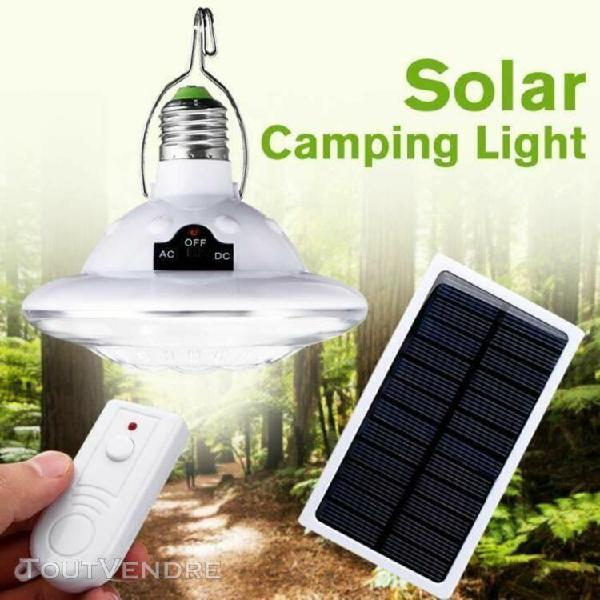 22led lampe solaire extrieur jardin + télécommande + 6v 1w